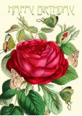 Karnet B6 brokat z kopertą Urodziny Róża