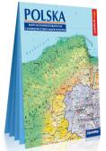 Polska Mapa ogólnogeograficzna i administracyjno-samochodowa; laminowana mapa XXL 1:1 000 000