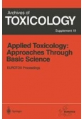 Mechanisms and Models in toxicology