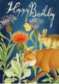 Karnet B6 z kopertą Urodziny Lis & królik