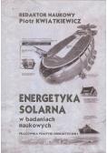 Energetyka solarna w badaniach naukowych