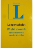Langenscheidt Wielki słownik polsko niemiecki niemiecko polski