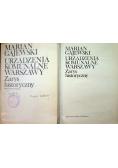 Urządzenia komunalne Warszawy Zarys historyczny książka plus mapy