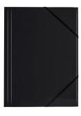 Teczka A4 kart. z gumką nar. czarna (6szt) BT600-V