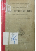 Histoire Abregee Des Litteratures 1900 r.
