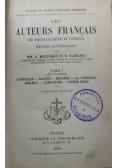Les Auteurs Francais Tome I 1898 r.