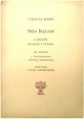 Suita liryczna 4 pieśni do słów J Tuwima na sopran