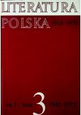 Literatura Polska  1945 - 1975 tom 3