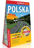 Polska kieszonkowa laminowana mapa samochodowa 1:1 400 000