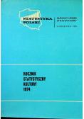 Rocznik statystyczny kultury 1974