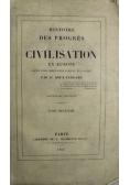 Histoire des Progres Civilisation Tom 2 1847 r.