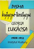 Pisma krytyczno teoretyczne Georga Lukacsa 1908 - 1932