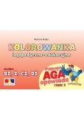 Kolorowanka Papuga Aga opow. cz.3 - SZ, Ż, CZ, DŻ