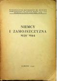 Niemcy i Zamojszczyzna 1939-1944 1946 r Tom III autograf Klukowski