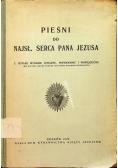 Pieśni do najsł. serca Pana Jezusa 1928r.