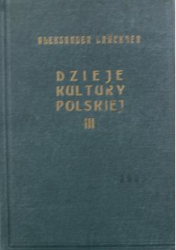 Dzieje kultury polskiej Tom III 1931 r.