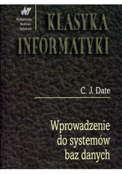 Klasyka Informatyki Wprowadzenie do systemów baz danych