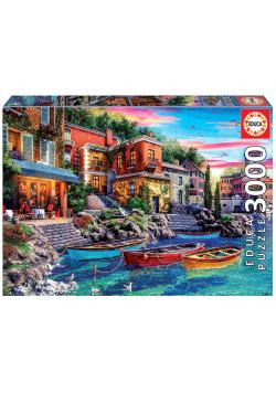 Puzzle 3000 Zachód słońca w Como/Włochy G3
