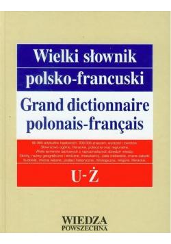 Wielki słownik polsko francuski Tom V U - Ż
