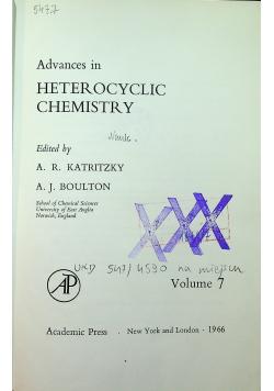 Advances in heterocyclic chemistry Volume 7