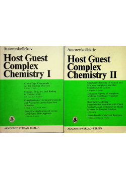 Host guest complex chemistry I and II
