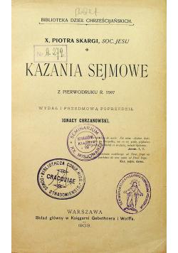 Kazania sejmowe 1903 r.
