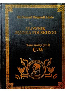 Słownik Języka polskiego Tom 6 cz 1 reprint z 1860 r