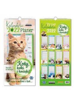 Kalendarz 2022 ścienny planer Koty