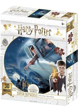 Harry Potter Magiczne puzzle Ford Anglia nad Hogwartem 300 elementów