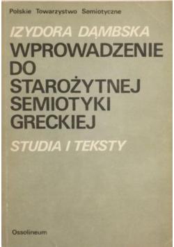 Wprowadzenie do starożytnej semiotyki greckiej