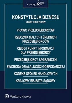 Konstytucja biznesu Zbiór przepisów