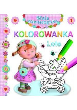 Mała dziewczynka kolorowanka - Lola