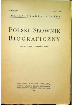 Polski słownik biograficzny Tom VIII /3