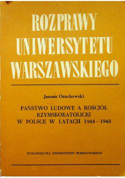 Państwo ludowe a kościół rzymskokatolicki w Polsce w latach 1944 1948