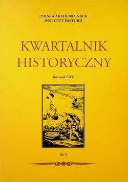 Kwartalnik historyczny rocznik CXV