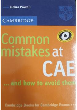 Common mistakes CAE