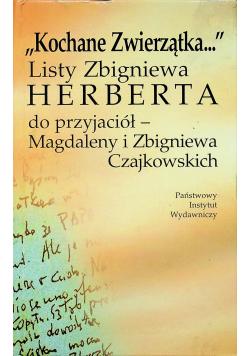Kochane zwierzątka listy Zbigniewa Herberta do przyjaciół