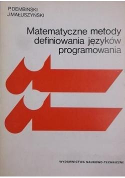 Matematyczne metody definiowania języków programowania
