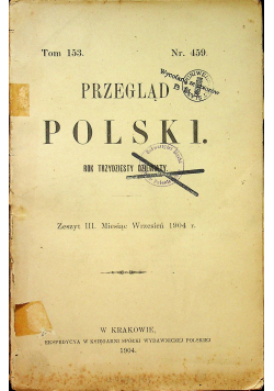 Przegląd Polski rok trzydziesty dziewiąty 1904 r.