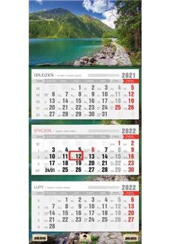Kalendarz 2022 trójdzielny Góry