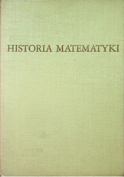 Historia matematyki tom II