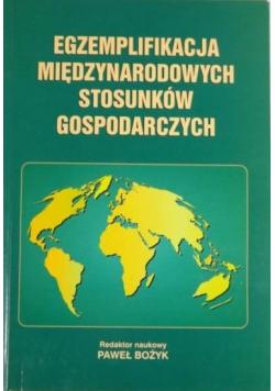Egzemplifikacja międzynarodowych stosunków gospodarczych