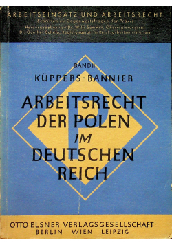 Arbeitsrecht der Polen im Deutschen Reich 1942 r.