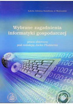Wybrane zagadnienia informatyki gospodarczej