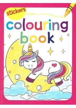Colouring book z naklejkami. Jednorożec