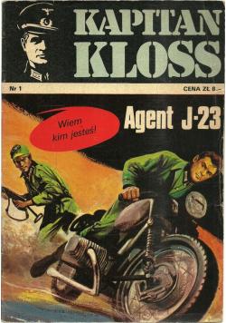 Kapitan Kloss nr 1 Agent J23