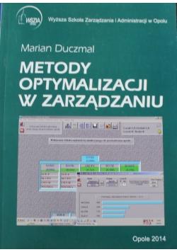Metody optymalizacji w zarządzaniu