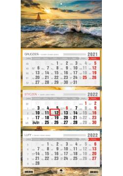 Kalendarz 2022 trójdzielny Żaglówka