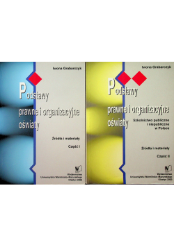 Podstawy prawne i organizacyjne oświaty 2 tomy