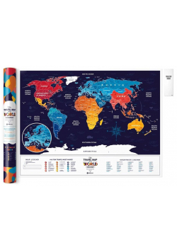 Mapa zdrapka - Travel Map Holiday World
